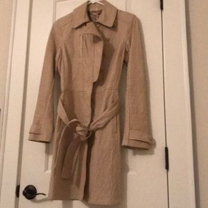 Elie Tahari leather coat